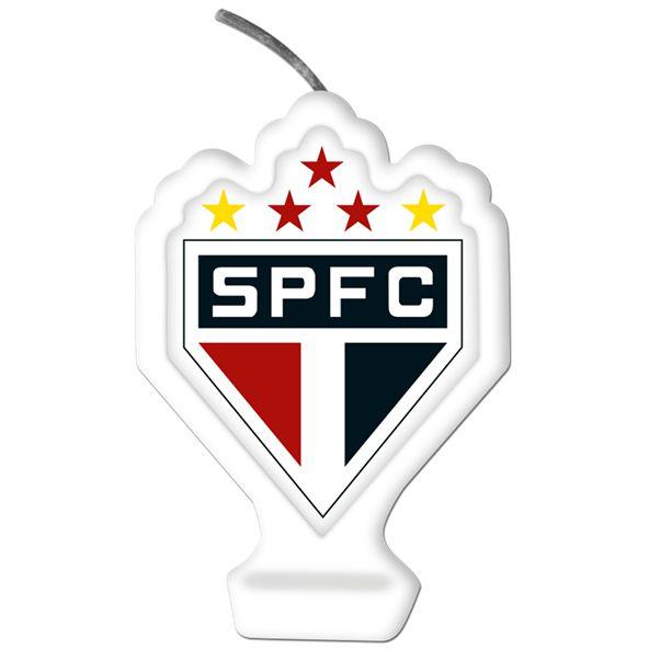 Vela Emblema Festa São Paulo - 1 unidade - Festcolor - Rizzo Embalagens e Festas