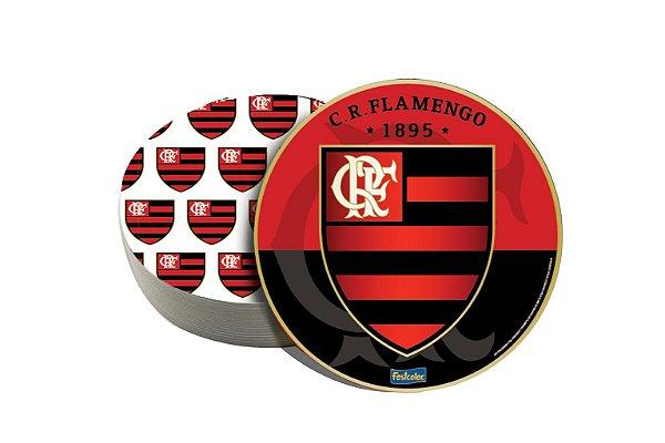 Porta Copos Festa Flamengo - 08 unidades - Festcolor - Rizzo Festas