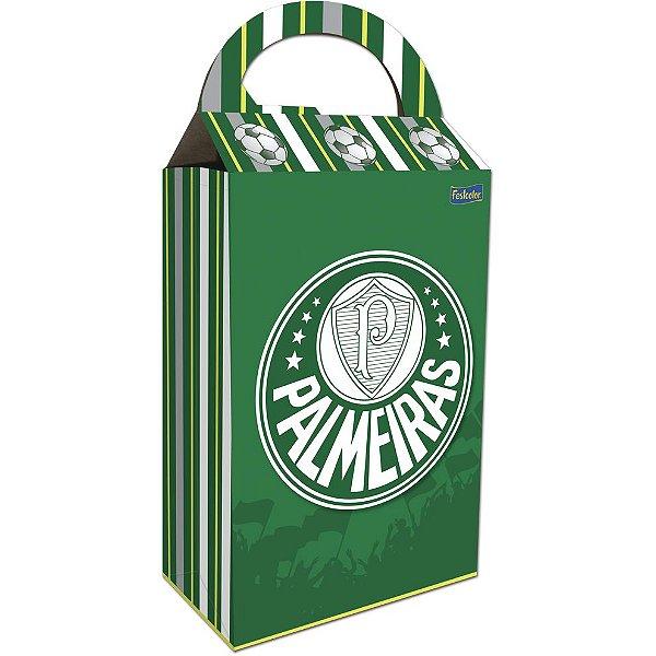 Caixa Surpresa Cubo Festa Palmeiras - 8 unidades - Festcolor - Rizzo Embalagens