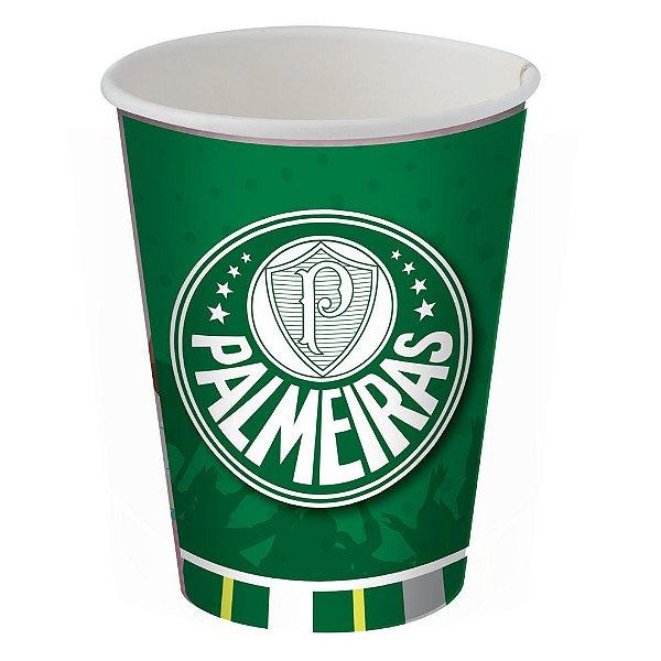 Copo de Papel 200ml Festa Palmeiras - 08 unidades - Festcolor - Rizzo Festas