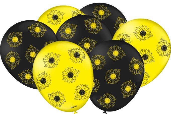 Balão Festa Girassol - 25 unidades - Festcolor - Rizzo Festas