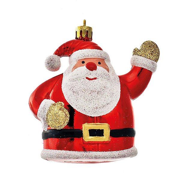 Enfeite para Pendurar Noel Vermelho 9cm - 03 unidades - Cromus Natal - Rizzo Embalagens