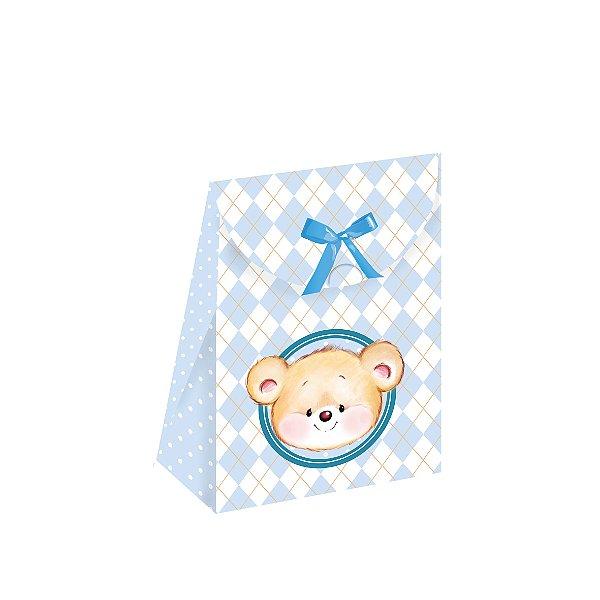 Caixa Lembrancinha Festa Ursinho Azul - 08 unidades - Festcolor - Rizzo Festas