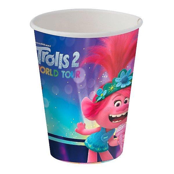 Copo de Papel 200ml Festa Trolls  - 08 unidades - Festcolor- Rizzo Festas