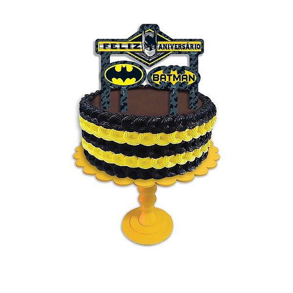 Topper para Bolo Festa Batman Geek - 04 unidades - Festcolor - Rizzo Festas