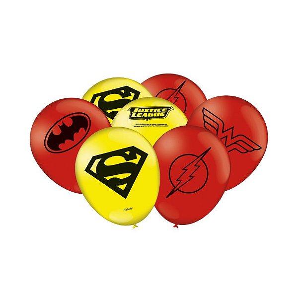 Balão Festa Liga da Justiça - 25 unidades - Festcolor - Rizzo Festas