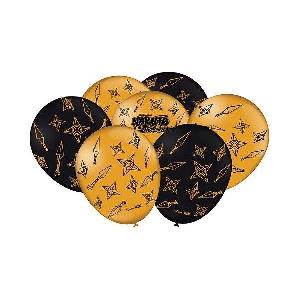 Balão Festa Naruto - 25 unidades - Festcolor - Rizzo Festas