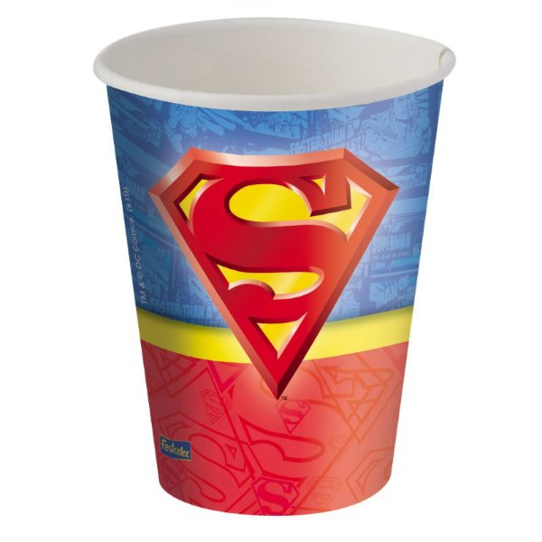 Copo de Papel 200ml Festa Superman  - 08 unidades - Festcolor - Rizzo Festas