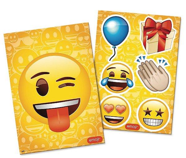 Kit Decorativo Festa Festa Emoji - Festcolor - Rizzo Festas