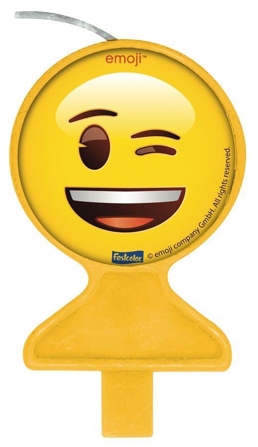 Vela Festa Emoji - 1 unidade - Festcolor - Rizzo Embalagens e Festas