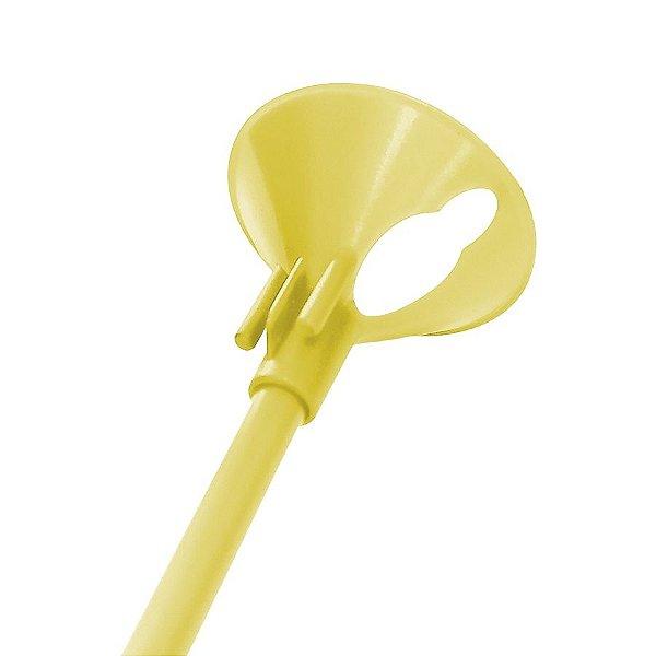 Kit Suporte para Balão 33cm - Amarelo Fluorescente - 10 Unidades - Rizzo Balões