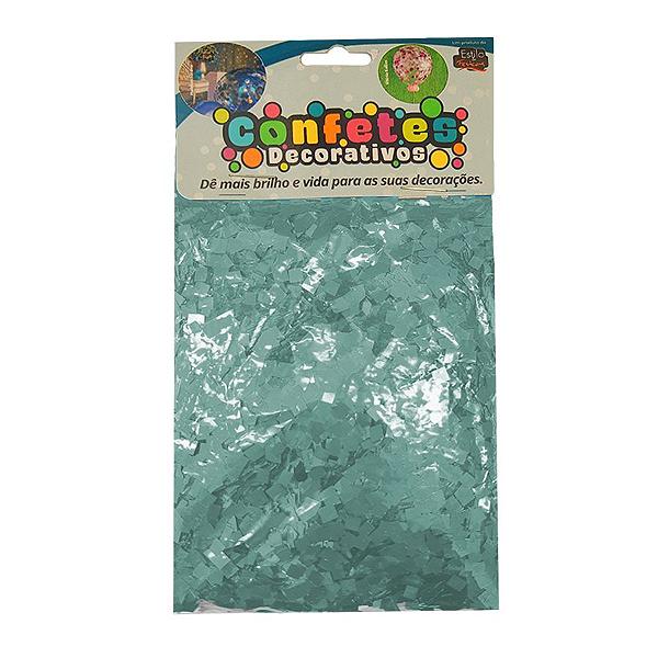 Confete Mini Picadinho 25g - Azul Claro Dupla Face - Rizzo Embalagens