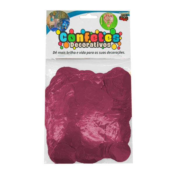 Confete Redondo Metalizado 25g - Lavanda Dupla Face - Rizzo Embalagens