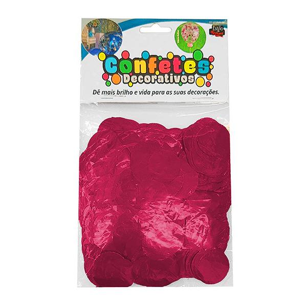 Confete Redondo Metalizado 25g - Pink Dupla Face - Rizzo Embalagens