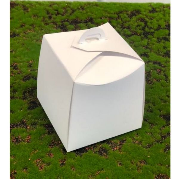 Caixa Panetone Branca 100g 10x10x10 com 10 un Assk