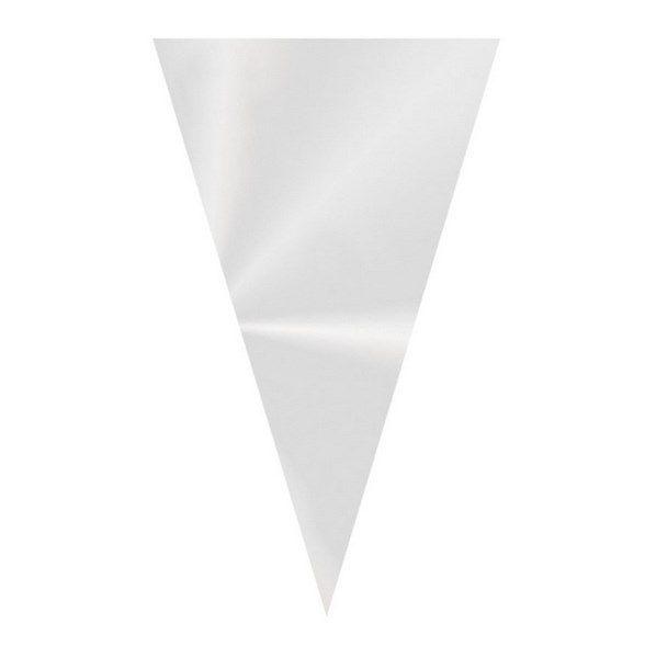 Mini Cone Festa Transparente - 14x23cm - 50 unidadas - Cromus - Rizzo