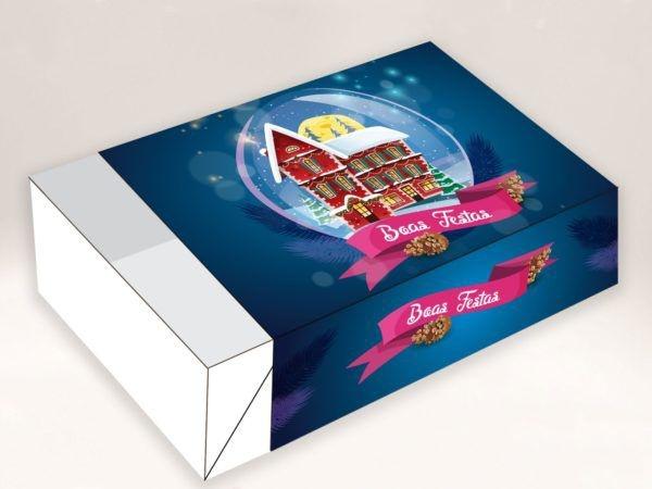 Caixa Divertida Casa Boas Festas 6 doces - 10 unidades - Erika Melkot Rizzo Embalagens