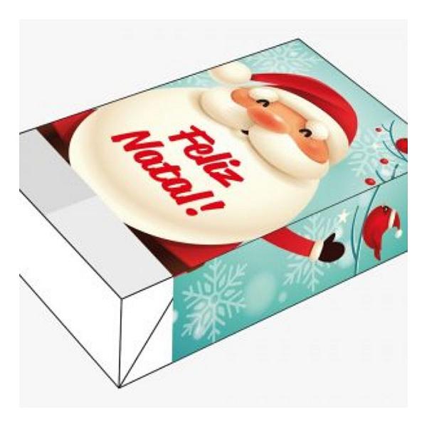 Caixa Divertida Feliz Natal Passarinhos Ref. 1144 - 6 doces - 10 unidades - Erika Melkot - Rizzo Embalagens