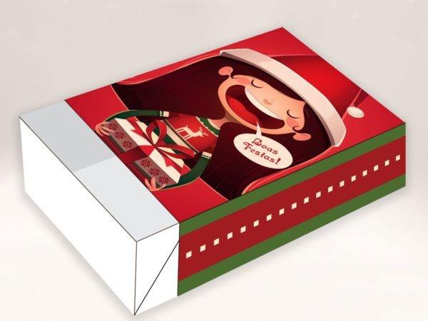 Caixa Divertida Natal Menina 6 doces - 10 unidades - Erika Melkot - Rizzo Embalagens