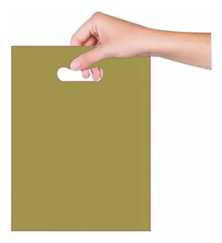 Sacola Boca de Palhaço 40x50cm - Dourada - 25 - unidades - Magnatech