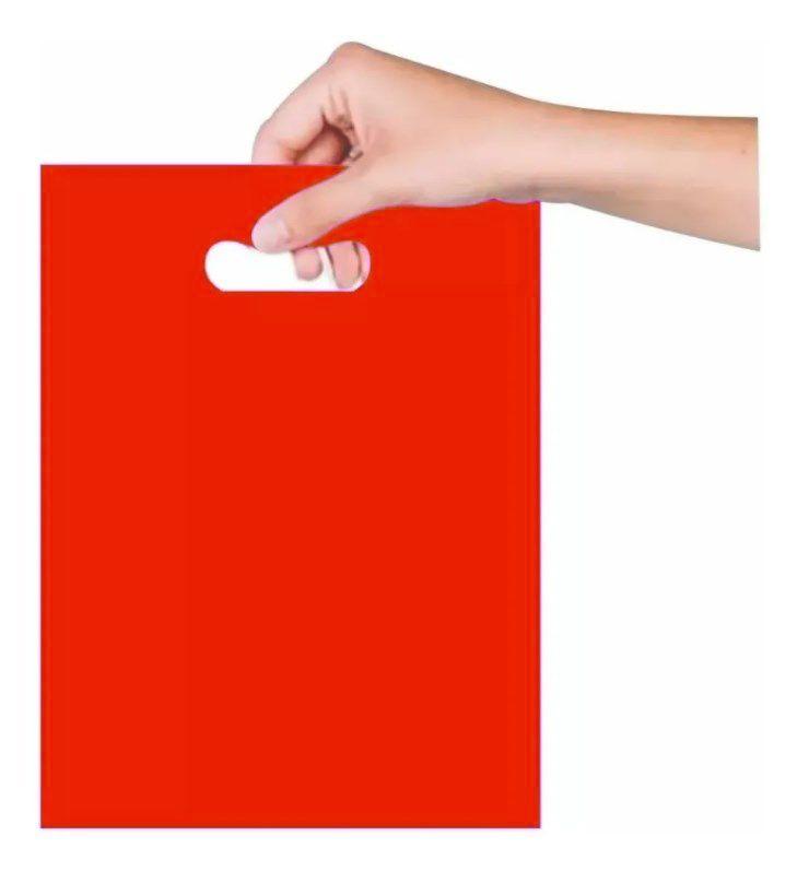 Sacola Boca de Palhaço 40x50cm - Vermelha - 25 unidades - Magnatech
