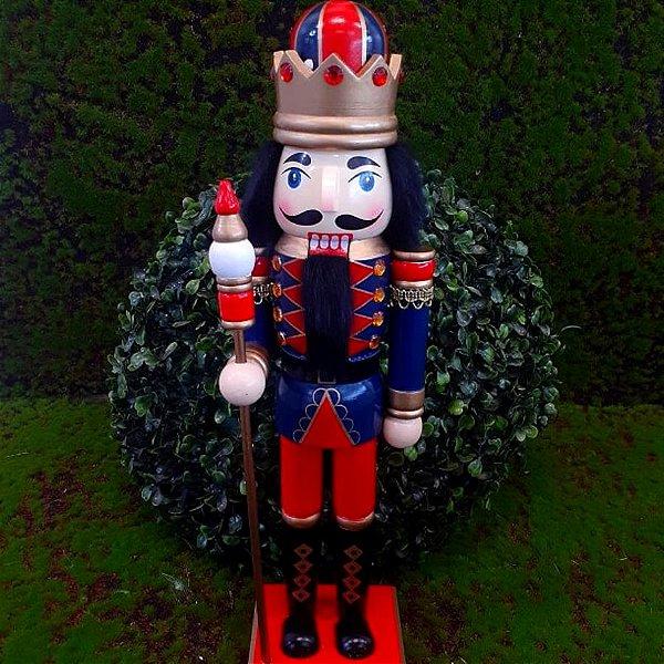 Boneco Soldado Quebra Nozes de Madeira EN035-03 - 39cm - 1 unidade - Global Master - Rizzo