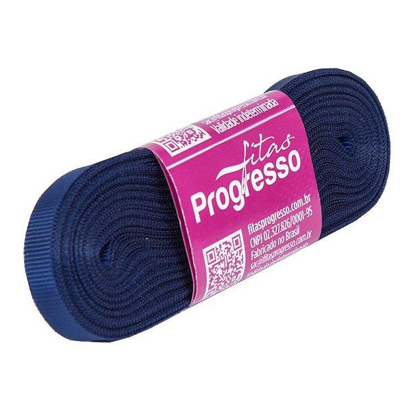 Fita Gorgurão Progresso 7mm nº1 - 10m Cor 215 Azul Marinho - 01 unidade - Rizzo Embalagens