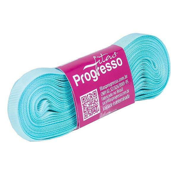 Fita Gorgurão Progresso 7mm nº1 - 10m Cor 247 Azul Tiffany - 01 unidade - Rizzo Embalagens