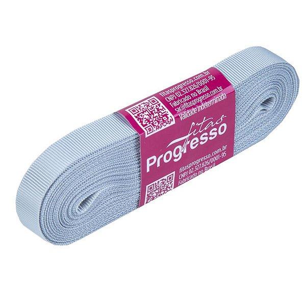 Fita Gorgurão Progresso 11mm nº2 - 10m Cor 084 Prata - 01 unidade - Rizzo Embalagens