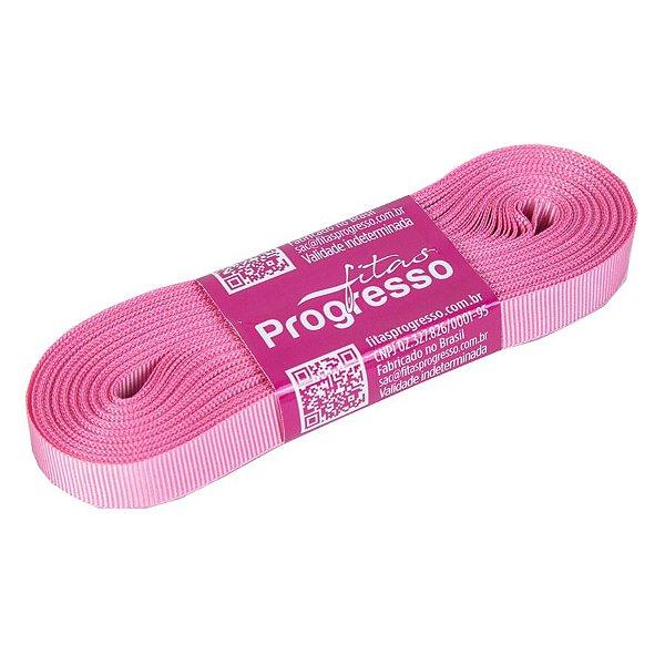 Fita Gorgurão Progresso 11mm nº2 - 10m Cor 240 Rosa Escuro - 01 unidade - Rizzo Embalagens