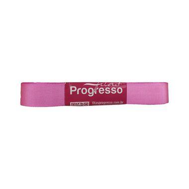 Fita Gorgurão Progresso 15mm nº3 - 10m Cor 1364 Rosa Chiclete - 01 unidade - Rizzo Embalagens