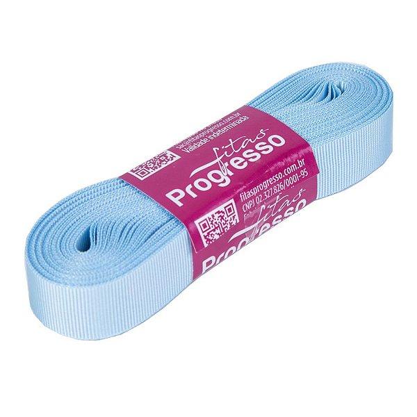 Fita Gorgurão Progresso 15mm nº3 - 10m Cor 212 Azul Bebê - 01 unidade - Rizzo Embalagens