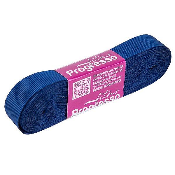 Fita Gorgurão Progresso 15mm nº3 - 10m Cor 215 Azul Marinho - 01 unidade - Rizzo Embalagens