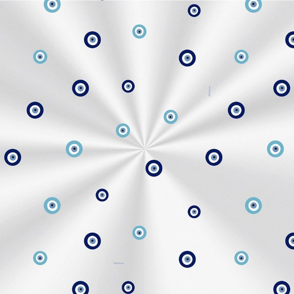 Saco Transparente Decorado Olho Grego - 15x29cm - 100 unidades - Cromus - Rizzo Embalagens
