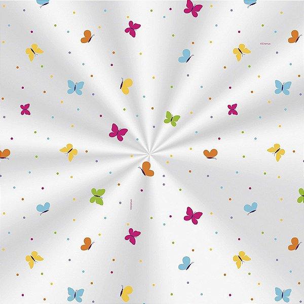 Saco Decorado Borboletas Colors - 25x37cm - 100 unidades - Cromus - Rizzo Embalagens