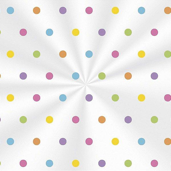 Saco Decorado Borboletas Colors - 15x22cm - 100 unidades - Cromus - Rizzo Embalagens