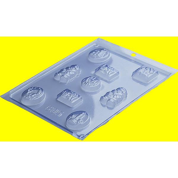 Forma de Acetato Enfeites Natal Ref 605 - Porto Formas - Rizzo Embalagens