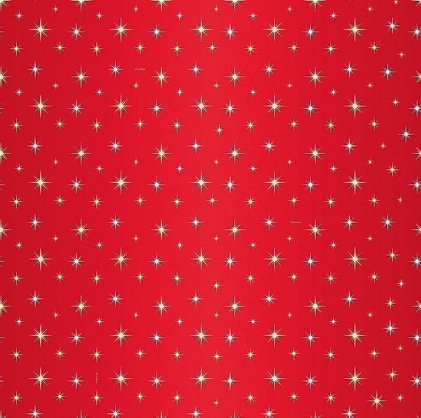 Saco Presente 45x59cm Estrela Guia Vermelho - 05 unidades - Cromus - Rizzo Embalagens