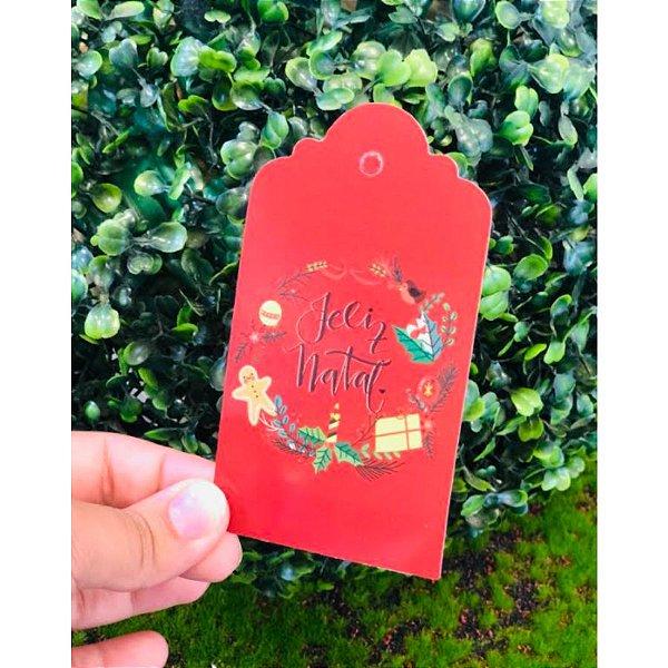 Tag Decorativa Feliz Natal - 5 unidades - Rizzo