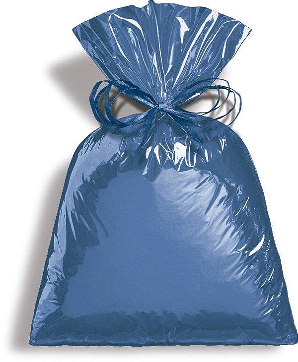 Saco Metalizado Azul 10x14cm - 50 unidades - Cromus - Rizzo Embalagens