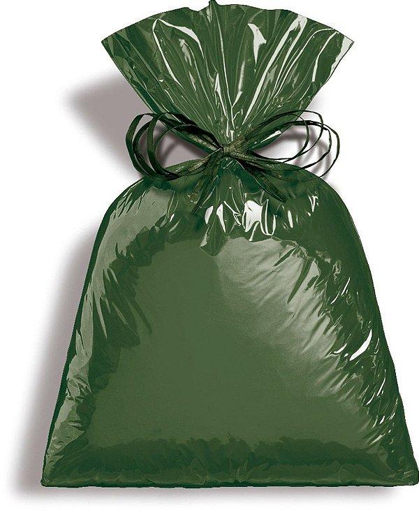 Saco Metalizado Dark Green 25x37cm - 50 unidades - Cromus - Rizzo Embalagens