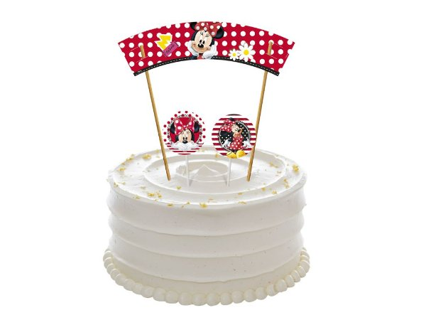 Topper para Bolo Festa Minnie - Regina - Rizzo Festas