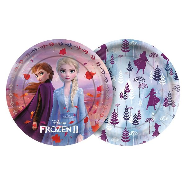 Prato 18cm Festa Frozen 2 - 12 unidades - Regina - Rizzo Festas