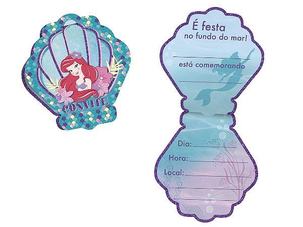 Convite Festa A Pequena Sereia - 08 unidades - Regina - Rizzo Festas