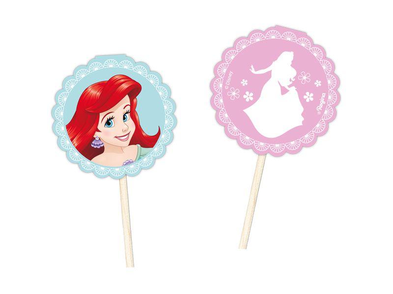 Pick Decorativo Festa Disney Princesas - 08 unidades - Regina - Rizzo Festas
