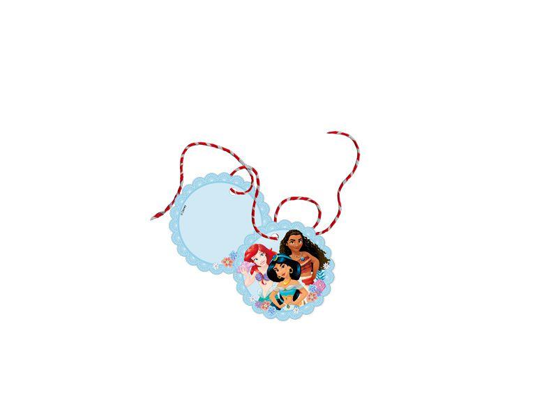 Tag com Cordão Festa Disney Princesas - 8 Unidades - Regina - Rizzo Festas