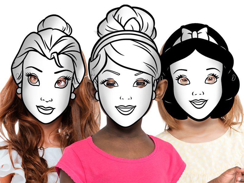 Máscara para Colorir Festa Disney Princesas - 06 Unidades - Regina - Rizzo Festas