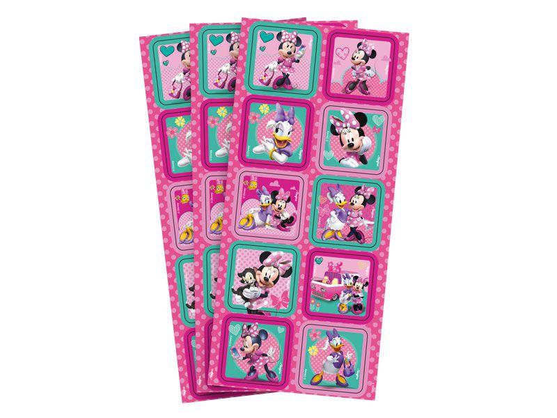 Adesivo Quadrado Decorativo Festa Minnie Rosa - 30 unidades - Regina - Rizzo Festas