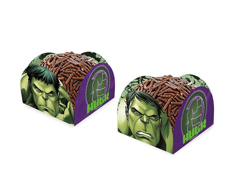 Porta Forminha Festa Vingadores Hulk - 50 Unidades - Regina - Rizzo Festas