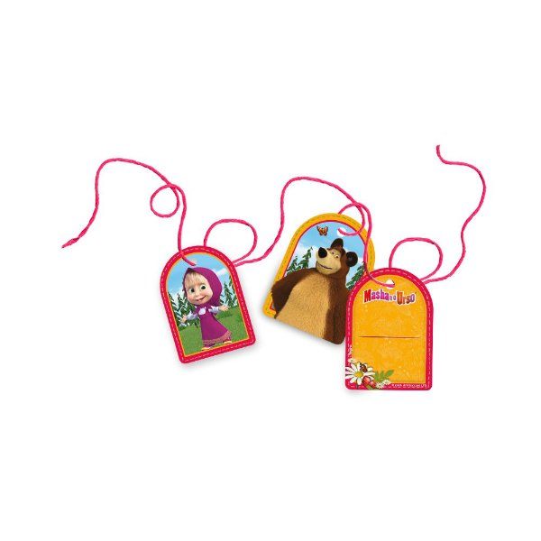 Tag com Cordão Festa Masha e o Urso - 8 Unidades - Regina - Rizzo Festas